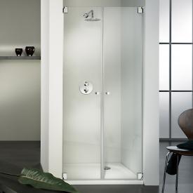 HSK Edition Kienle swing door in recess TSG clear light shield / chrome