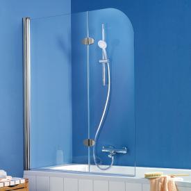HSK Exklusiv bath screen 2-part shield coating, light clear / chrome look
