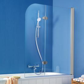 HSK Exklusiv bi-fold bath screen 2 part TSG light clear with shield coating / matt silver
