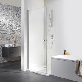 HSK Exklusiv hinge door for fold-away side panel light clear shield coating / matt silver, STIM 88.5-90.5 cm