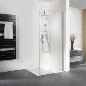 HSK Exklusiv hinge door for side panel light clear shield coating / matt silver, STIM 88.5-90.5 cm
