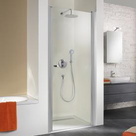 HSK Exklusiv hinge door in recess light clear shield coating / matt silver, STIM 87-90.5 cm