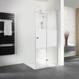 HSK Exklusiv pivot point door for side panel matt centre shield coating / matt silver, STIM 88.5-90.5 cm