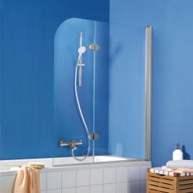 HSK Exklusiv Porte battante pivotante pour pare-baignoire, 2 éléments Verre trempé transparent, clair/argent mat
