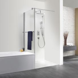 HSK Exklusiv short side panel with towel rail for pivot door TSG light clear / matt silver