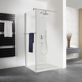 HSK Exklusiv side panel with towel rail for pivot door TSG light clear with shield coating / matt silver
