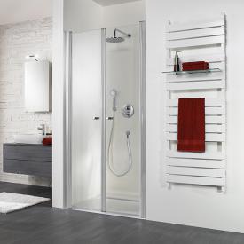 HSK Exklusiv swing door in recess light clear / matt silver, STIM 87-90.5 cm