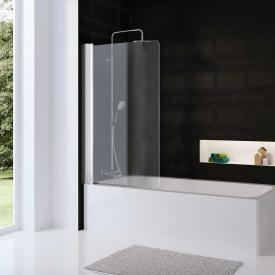 HSK Favorit Nova bath screen, 1 part TSG light clear with shield coating / white