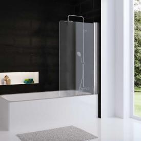 HSK Favorit Nova bath screen, 1 part TSG light clear / matt silver