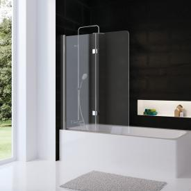 HSK Favorit Nova bi-fold bath screen TSG light clear with shield coating / chrome look