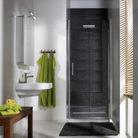 HSK Favorit Nova swing door in recess clear light shield coating / matt silver, STIM 88.0-91.5