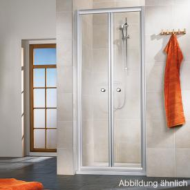 HSK Favorit saloon door in recess acrylic glass, light drops / matt silver