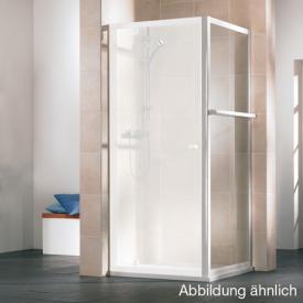 HSK Favorit short side panel with towel rail acrylic glass, light drops / matt silver