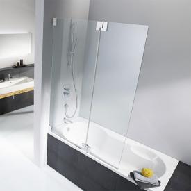 HSK K2 bath screen TSG clear light / chrome