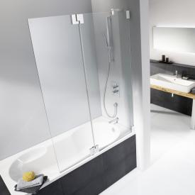 HSK K2 bath screen with fixed panel TSG light clear / chrome look