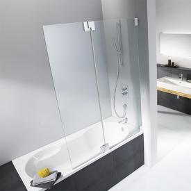 HSK K2 bi-fold bath screen TSG light clear / chrome look