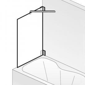 HSK K2 side panel for bath screen TSG light clear / chrome look