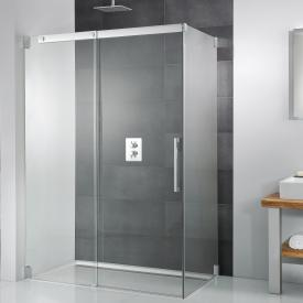 HSK K2 sliding door with side panel TSG clear light / chrome look