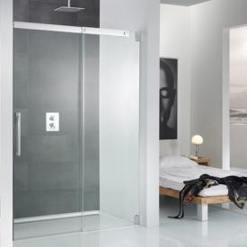 HSK K2 sliding door in recess shield coating, clear light /chrome