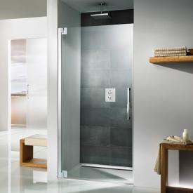 HSK K2P hinge door in recess TSG clear light shield coating / chrome