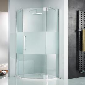 HSK K2P hinge door pentagonal TSG clear light shield coating / chrome