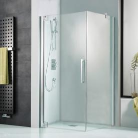 HSK K2P hinged door for side panel TSG light clear / chrome look