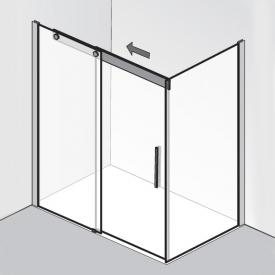 HSK K2P sliding door with side panel TSG clear light / chrome