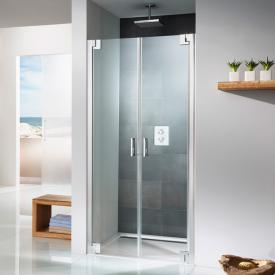 HSK K2P two-way hinged door for recess TSG light clear with shield coating / chrome look