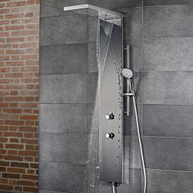 HSK Lavida Plus shower panel with cascade black