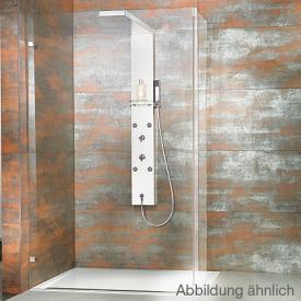 HSK Lavida shortened shower panel, for holding glass WALK IN polished stainless steel/white