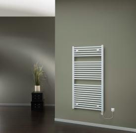 HSK Line towel radiator with heating element 2 for all electric operation 600 Watt