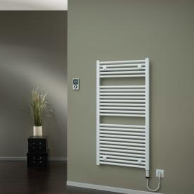 HSK Line towel radiator with heating element 4 for all electric operation white, 600 W, heating element on the right