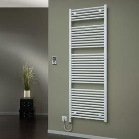 HSK Line towel radiator with heating element 4 for all electric operation white, 800 W, heating element on the left