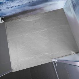 HSK Marble-Polymer rectangular shower tray in stone look, super flat stone grey