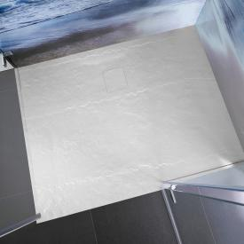 HSK Marble-Polymer rectangular shower tray in stone look, super flat white