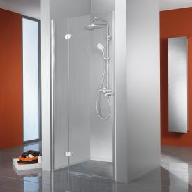 HSK Premium Classic hinged door with fixed panel for recess TSG light clear / chrome look