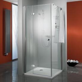 HSK Premium Classic hinged door with fixed panel for side panel TSG light clear with shield coating / chrome look