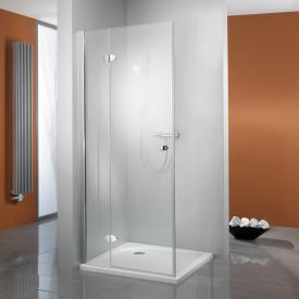 HSK Premium Classic hinged door with fixed panel for side panel TSG light clear / chrome look