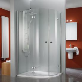 HSK Premium Classic quadrant hinged door 4-part TSG light clear with shield coating / chrome look