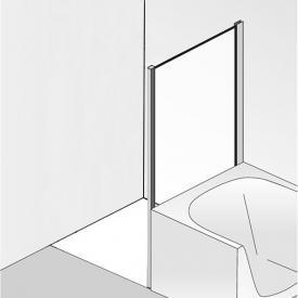 HSK Premium Classic short side panel for hinged door TSG light clear / chrome look