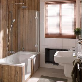 HSK Premium Softcube bath screen, 2 part TSG light clear, shield coating / chrome