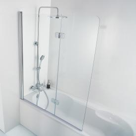 HSK Premium Softcube bath screen, 2 part TSG light clear / chrome