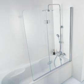 HSK Premium Softcube bi-fold bath screen 2 part TSG light clear with shield coating / chrome look