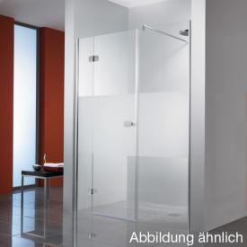 HSK Premium Softcube hinged door in recess TSG clear light / chrome look