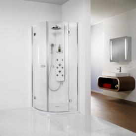 HSK Premium Softcube hinged door quadrant TSG clear light shield coating / chrome look