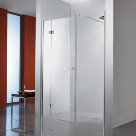 HSK Premium Softcube hinged door with fixed and adjacent panel for recess TSG light clear / chrome look