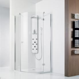 HSK Premium Softcube quadrant hinged door 3 part TSG light clear with shield coating / chrome look