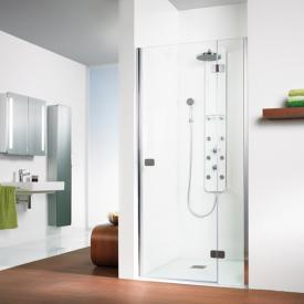 HSK Premium Softcube two-way hinged door with fixed panel for recess TSG light clear / chrome look