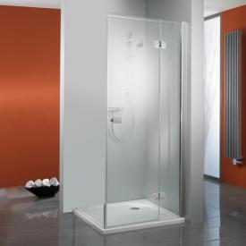 HSK Premium Softcube two-way hinged door with fixed panel for side panel TSG light clear with shield coating / chrome look