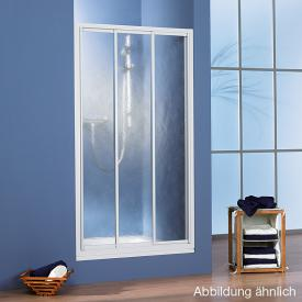 HSK Prima sliding door in recess acrylic glass, light drops / matt silver
